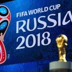during a press conference ahead of the preliminary draw of the 2018 FIFA World Cup in Russia at Konstantin Palace on July 24, 2015 in Saint Petersburg, Russia.